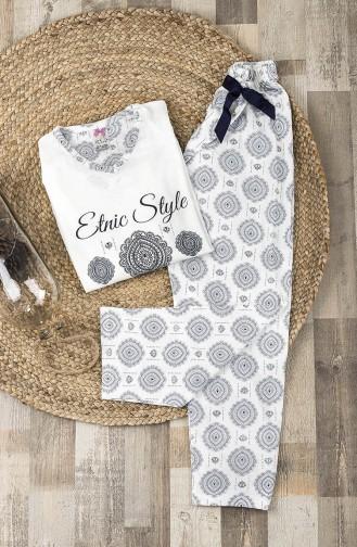 Pajamas Suit MPI0014-01 White 0014-01