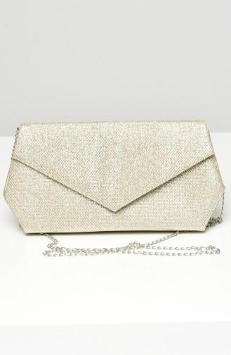 Gold Colour Portfolio Hand Bag 0427-06