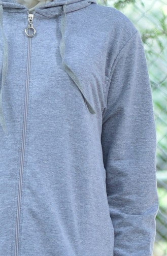 Zippered Tracksuit Suit 30110-03 Gray 30110-03