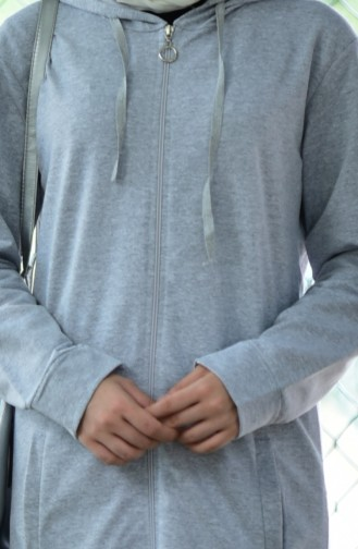 Zippered Tracksuit Suit 30110C-03 Gray 30110C-03