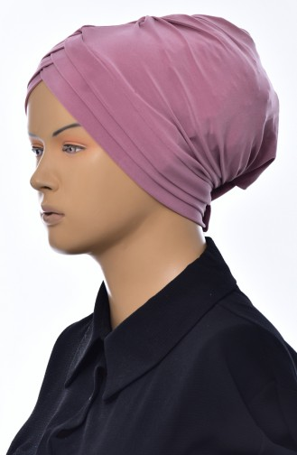 Bonnet 3 Bandes Croisées 0022-07 Rose Pâle Foncé 0022-07