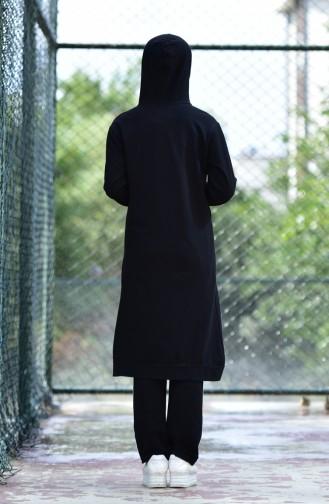 Zippered Tracksuit Suit 30110C-01 Black 30110C-01