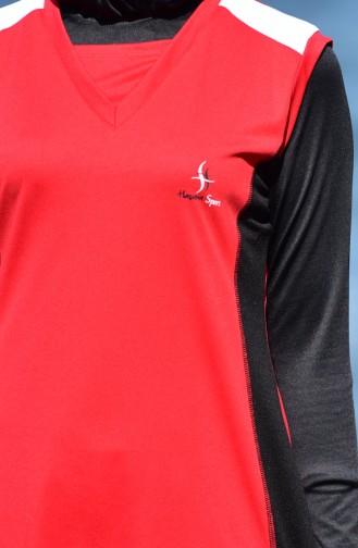 ملابس للسباحة 0104-01 لون احمر واسود 0104-01