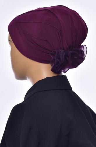 Bonnet Turban Prêt 1006-14 Plum 1006-14