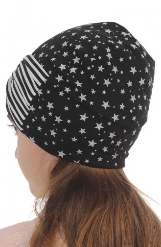 القبعات والباندانا أسود 0167