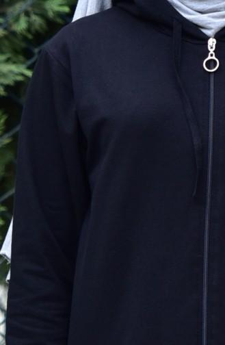 Zippered Tracksuit Suit 30110-01 Black 30110-01