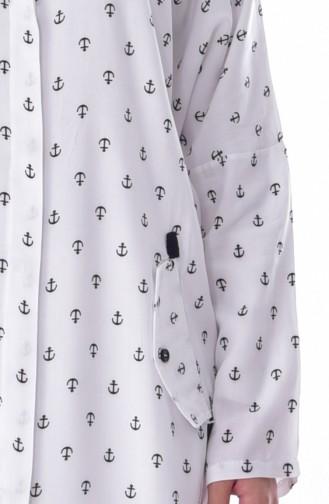 Tunika mit Taschen Detail 3927-06 Weiß 3927-06