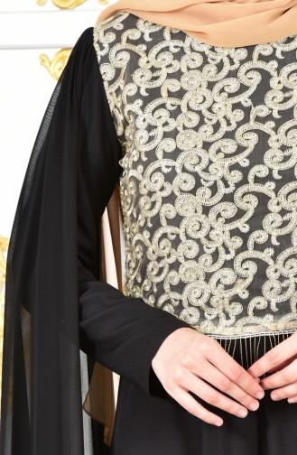 Robe de Soirée a Dentelle 81606-02 Noir 81606-02