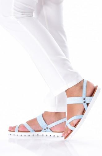 Ice Blue Summer Sandals 0106-01
