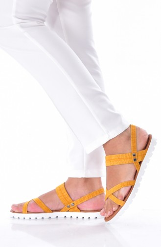 Mustard Summer Sandals 0106-03