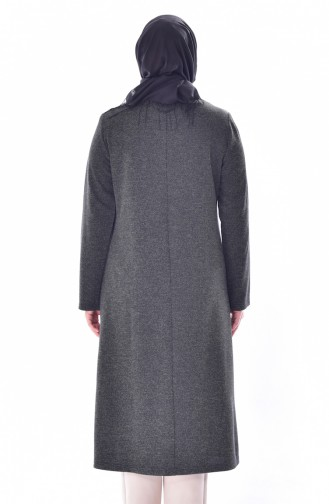 Cape a Rayure Grande Taille 6060-04 Gris 6060-04