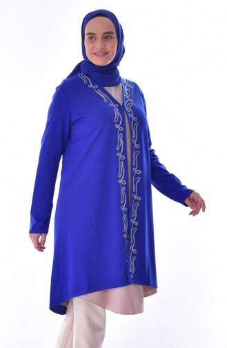 Gilet Grande Taille 0538-03 Bleu Roi 0538-03