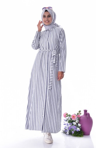 Robe Hijab Bleu Marine 3918-03