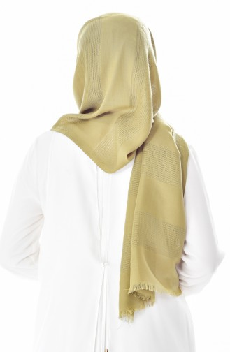 Net Detailed Shawl 19033-29 Light Khaki 29