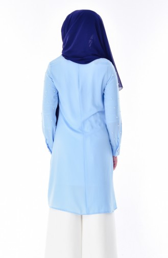 Baby Neckline Pearl Tunic 3150-04 Baby Blue 3150-04