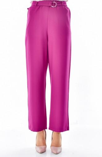 Pantalon Large a Ceinture 0511-02 Plum 0511-02