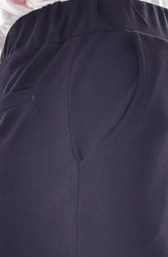 Beli Lastikli Pantolon 1030-02 Siyah 1030-02
