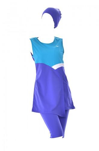 Saxon blue Swimsuit Hijab 215-02