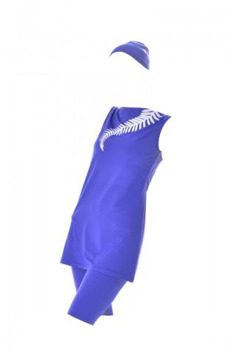 Saxon blue Swimsuit Hijab 309-02