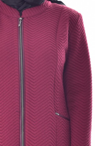 Large Size Zippered Cap 6068-03 Bordeaux 6068-03