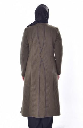 Large Size Zippered Cap 6068-01 Khaki 6068-01