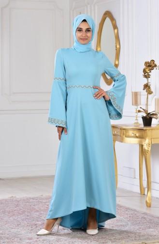 Robe Bordée 6107-01 Vert Menthe 6107-01