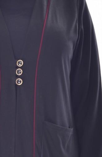 Gilet a Boutons Grande Taille 4730-03 Noir 4730-03