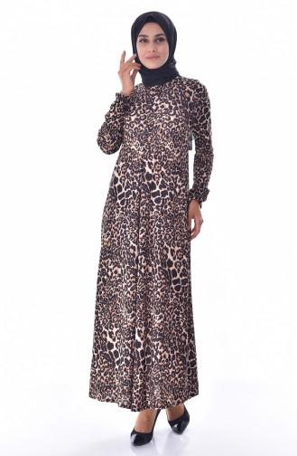 دلبر فستان بتصميم طيات 7034-01 لون اسود 7034-01
