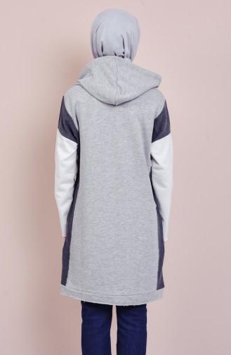 Sweatshirt a Capuche 1080-01 Gris 1080-01