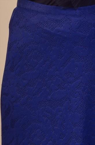 تنورة بتصميم مُطبع  30998-01 لون كحلي 30998-01