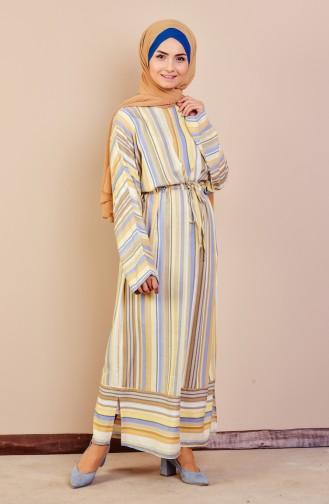 Robe a Rayure 60709-01 Jaune İndigo 60709-01