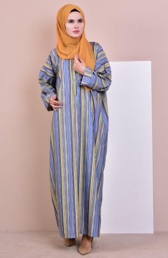 Bat Sleeve Dress 1012-01 Indigo 1012-01