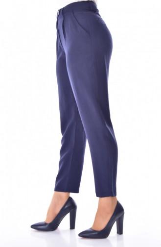 Pantalon Simple avec Poches 41062-01 Bleu Marine 41062-01