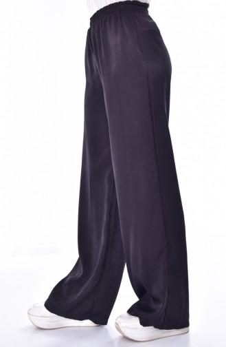 Beli Lastikli Bol Paça Pantolon 41016-04 Siyah