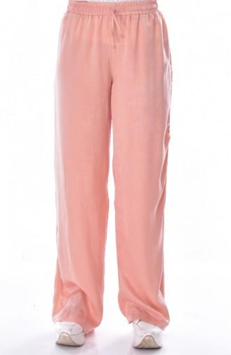Wast Elastic Wide Leg Pants 41016-01 Salmon 41016-01