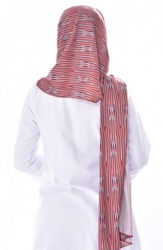 Striped Crepe Shawl 50451-01 Cinnamon 50451-01