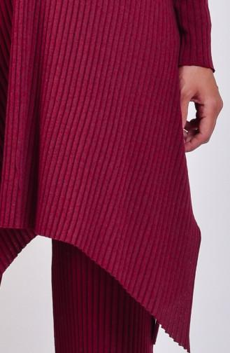 Tunik Pantolon İkili Takım 4516-04 Bordo 4516-04