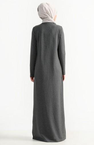 Rauchgrau Hijap Kleider 2979-05