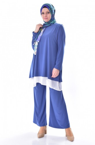 Tunic Trousers Double Suit 1975-04 Indigo 1975-04