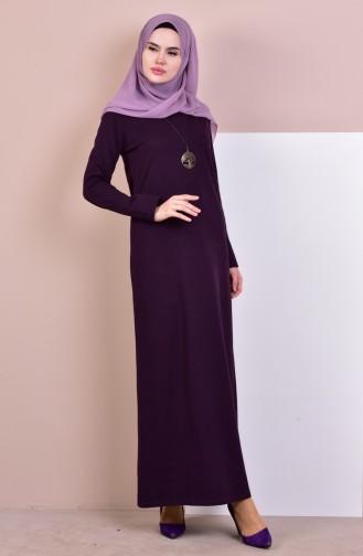 TUBANUR Necklace Two Yarn Dress 2779-20 Dark Purple 2779-20