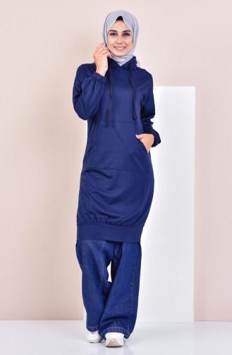 Sweatshirt avec Poches 2103-06 Bleu Marine 2103-06