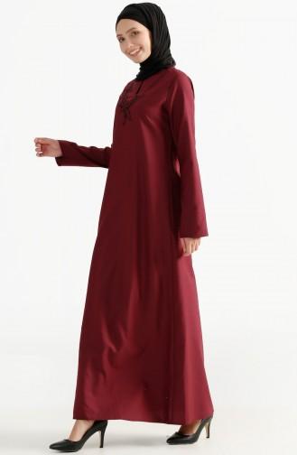توبانور فستان بتفاصيل مُطرزة 2975-06 لون ارجواني 2975-06