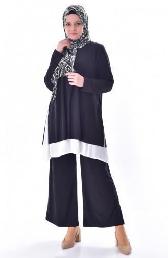 Tunik Pantolon İkili Takım 1975-01 Siyah 1975-01