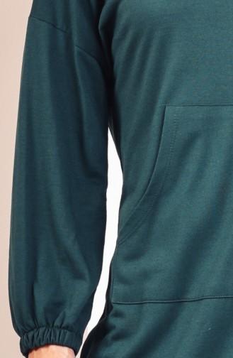 Sweatshirt avec Poches 2103-04 Vert emeraude 2103-04