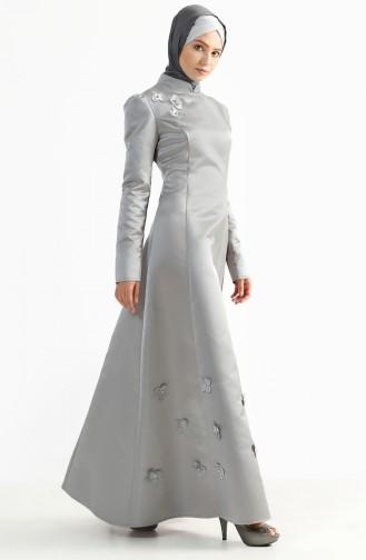 Robe de Soirée 7192-06 Gris Clair 7192-06