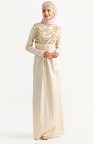 Lace Evening Dress 7199-03 Beige 7199-03
