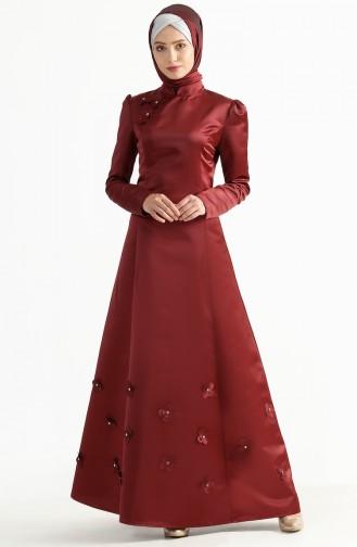 Kuplu Evening Dress 7192-02 Bordeaux 7192-02