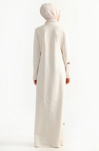 Robe Bordée de Fleurs 2980-03 Ecru 2980-03