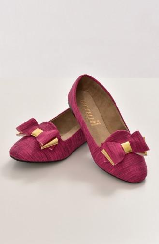Fuchsia Woman Flat Shoe 50192-01