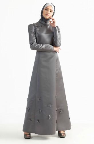 Kuplu Evening Dress 7192-03 Gray 7192-03